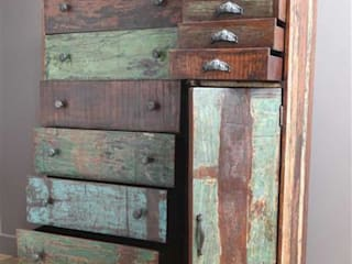 Large Recycled Wooden Chest of Drawers Vintage Archive HouseholdStorage