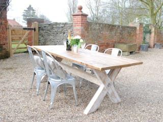 X Frame Bespoke Dining Tables to order: country  by Dove and Grey, Country