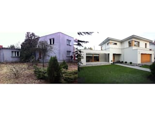 dom przed i po przebudowie: styl , w kategorii  zaprojektowany przez Sasiak - Sobusiak Pracownia Projektowa