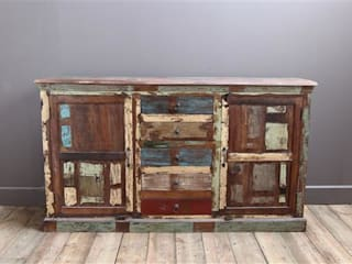 Recycled Teak Kitchen Cupboard Vintage Archive CuisinePlacards & stockage