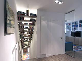 Dom na Różanym Potoku Nowoczesny korytarz, przedpokój i schody od Neostudio Architekci Nowoczesny