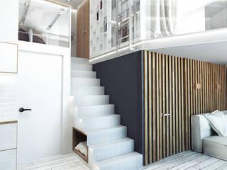 LOFT APARTMENT МОСКВА Коридор, прихожая и лестница в стиле лофт от IK-architects Лофт
