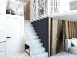 LOFT APARTMENT МОСКВА: Коридор и прихожая в . Автор – IK-architects, Лофт
