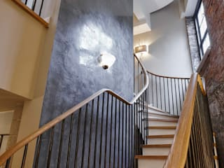 Piccadilly Lofts Staircase, York Bisca Staircases Ingresso, Corridoio & Scale in stile industriale