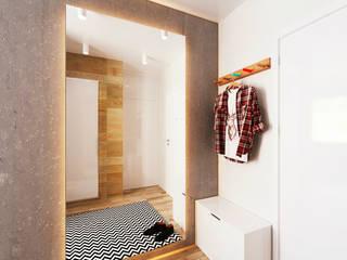 IK-architects Couloir, entrée, escaliers minimalistes