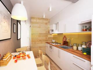 KEFIR HOME: Кухни в . Автор – IK-architects, Минимализм