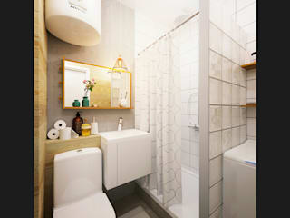 IK-architects Minimalist bathroom