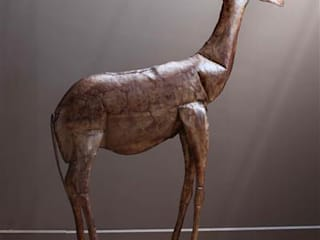 Metal Giraffe Sculpture Vintage Archive ArtworkSculptures