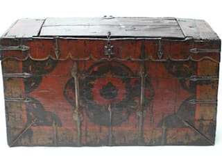 19th Century Tibetan Monastery Chest Vintage Archive HouseholdAccessories & decoration