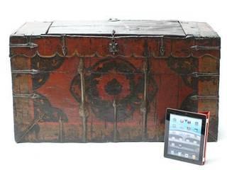 19th Century Tibetan Monastery Chest Vintage Archive 家居用品配件與裝飾品
