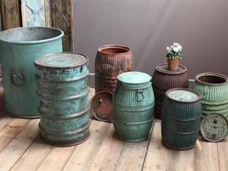Recycled Drum Planters Vintage Archive Garden Plant pots & vases