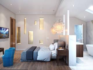 minimalistische Schlafzimmer von Бюро 19.23