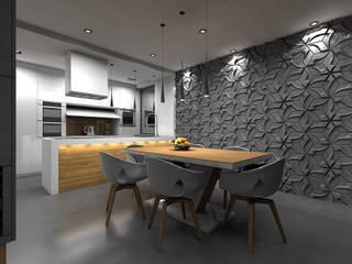 Wnętrze domu w Szałszy: styl , w kategorii Jadalnia zaprojektowany przez STRUKTURA Łukasz Lewandowski