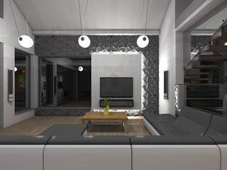 STRUKTURA Łukasz Lewandowski Modern Living Room