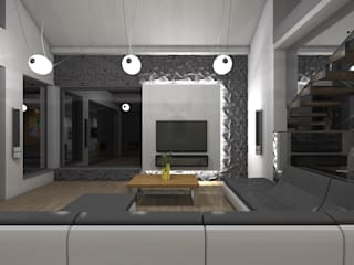 Salas modernas de STRUKTURA Łukasz Lewandowski Moderno