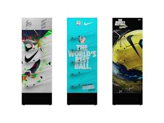 Espositori Nike SKILLS Negozi & Locali commerciali moderni di Un-real Studio Associato Moderno
