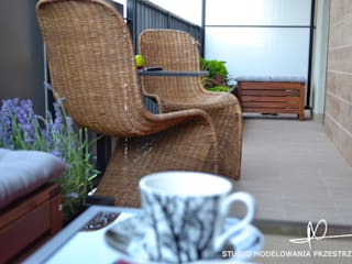 Moderne balkons, veranda's en terrassen van Studio Modelowania Przestrzeni Modern