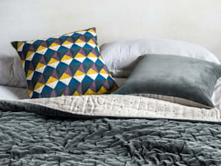 Escher Cushion (Fig/Chartreuse):   by Niki Jones