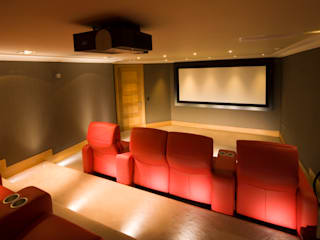 Cinema Room Ruang Media Modern Oleh Prestigeaudio - Smart Home Designers Modern