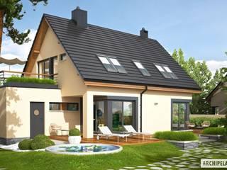 Projekt domu Tim IV G1 ECONOMIC (wersja A): styl , w kategorii Domy zaprojektowany przez Pracownia Projektowa ARCHIPELAG,Nowoczesny