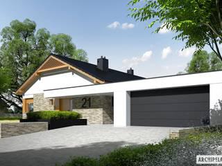 Projekt domu Daniel G2 Nowoczesne domy od Pracownia Projektowa ARCHIPELAG Nowoczesny