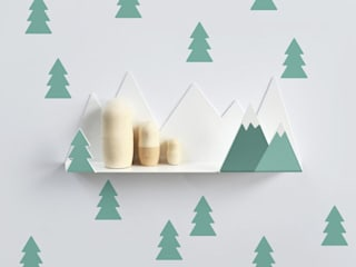 Tresxics Mountain Shelf & Fir Trees - Green:   by Lullabuy Limited