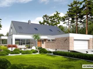 Projekt domu Magnus G2 ENERGO PLUS : styl , w kategorii Domy zaprojektowany przez Pracownia Projektowa ARCHIPELAG,Nowoczesny