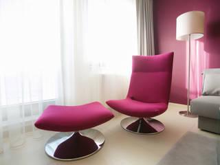 Modern living room by Anna Buczny PROJEKTOWANIE WNĘTRZ Modern