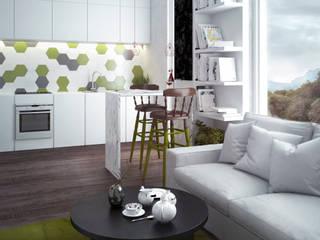 Flat for single man Кухня в скандинавском стиле от PRO-DESIGN Скандинавский