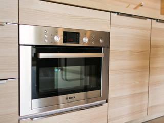 Projekt wnętrz apartamentu z kompleksowym wykonawstwem i wyposażeniem pod klucz Nowoczesna kuchnia od Anna Buczny PROJEKTOWANIE WNĘTRZ Nowoczesny