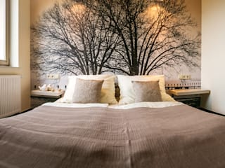 Projekt sypialni Nowoczesna sypialnia od Anna Buczny PROJEKTOWANIE WNĘTRZ Nowoczesny