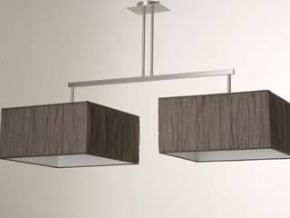 ALTO carré ABJ recouvert de Voilage Taupe:  de style  par Luminaires Ricardo Luigi