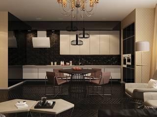 Квартира Golem Кухни в эклектичном стиле от Design by Ladurko Olga Эклектичный