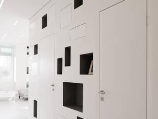 Minimalist corridor, hallway & stairs by Kerimov Architects Minimalist