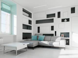 Minimalist living room by Kerimov Architects Minimalist