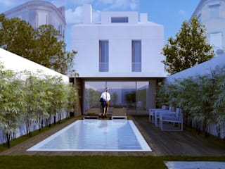 Moradia em C.Ourique. C.Ourique 221 Casas minimalistas por HRA-Lisboa Minimalista