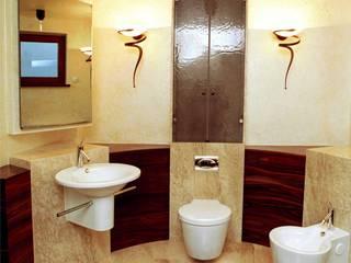 Projekt i aranżacja łazienki Egzotyczna łazienka od Anna Buczny PROJEKTOWANIE WNĘTRZ Egzotyczny