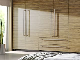 DM Design Caribbean Walnut Door Range:  Bedroom by DM Design