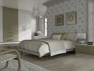 DM Design Alphine White with Olive feature door:  Bedroom by DM Design