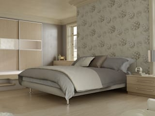 DM Design Champagne Avola Sliding Wardrobes :  Bedroom by DM Design