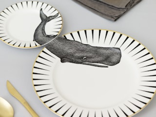 Whale of a Time Plate Set:   by Yvonne Ellen