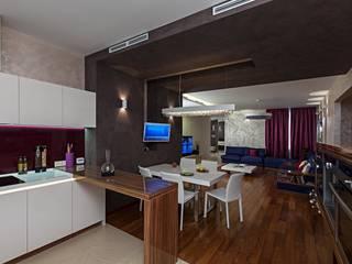Жизнь в ярких цветах Столовая комната в стиле модерн от дизайн студия 'LusiSarkis ' Модерн