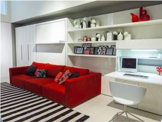 Cama abatible con sofá : Salones de estilo minimalista de Mobiliario Xikara