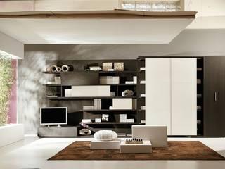 Mueble de salón con cama abatible giratoria Salones de estilo minimalista de Mobiliario Xikara Minimalista