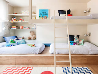Dormitorio infantil de A! Emotional living & work Minimalista