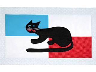dywanik z aplikacją kot - jasny: styl , w kategorii Ściany i podłogi zaprojektowany przez Orangeria / Igolo