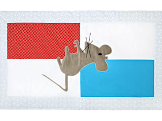dywanik z aplikacją  mysz - jasny: styl , w kategorii Pokój dziecięcy zaprojektowany przez Orangeria / Igolo