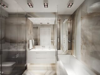 Minimalist style bathroom by DenisBu Minimalist