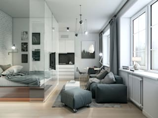 Living room by Entalcev Konstantin, Industrial