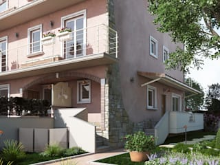 Rendering Immobiliare Roma TF Design & Costruzioni: Case in stile in stile Moderno di Virgo Design